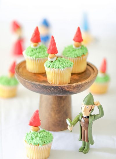 Goons Gnome Cupcakes to Celebrate Sherlock Gnomes