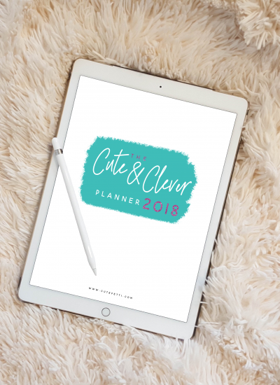 Free Cute & Clever Printable Planner 2018