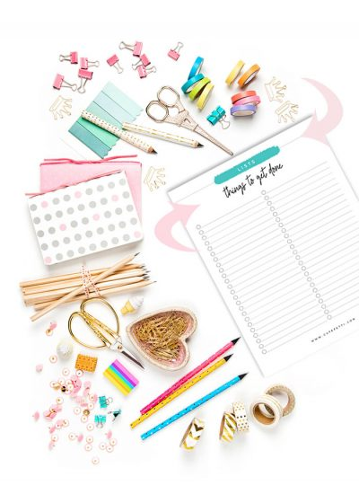 Remember… all the things to get done w/ a Printable List