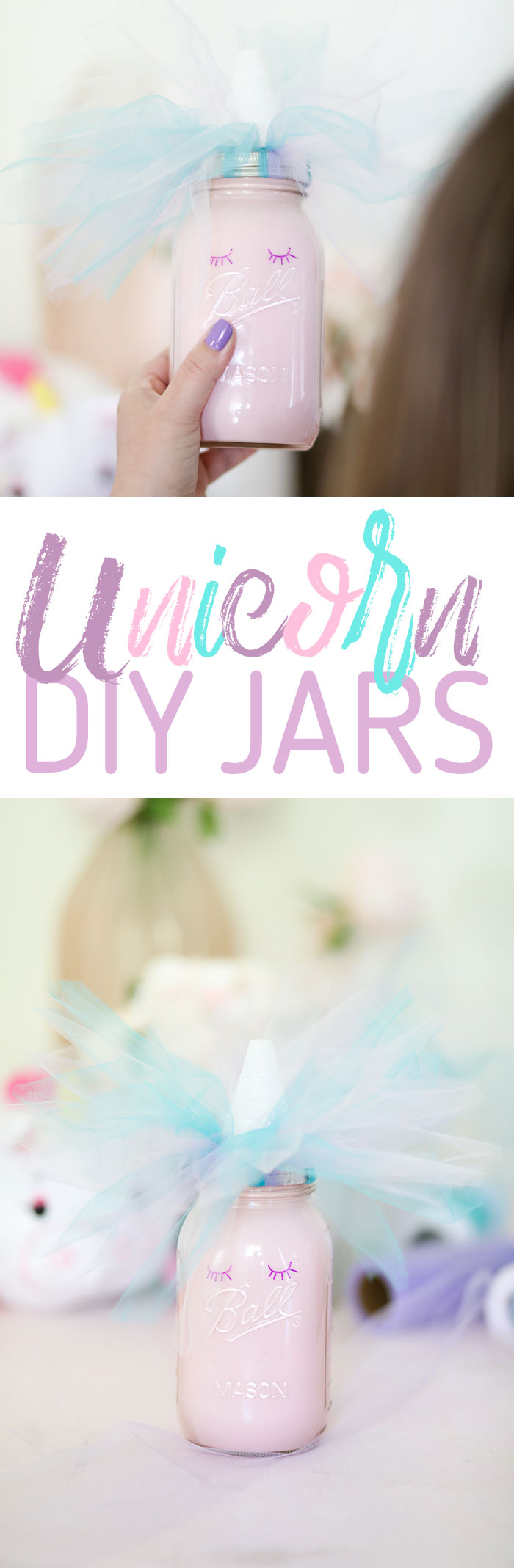 Unicorn DIY. Cute Mason Jar Unicorn.
