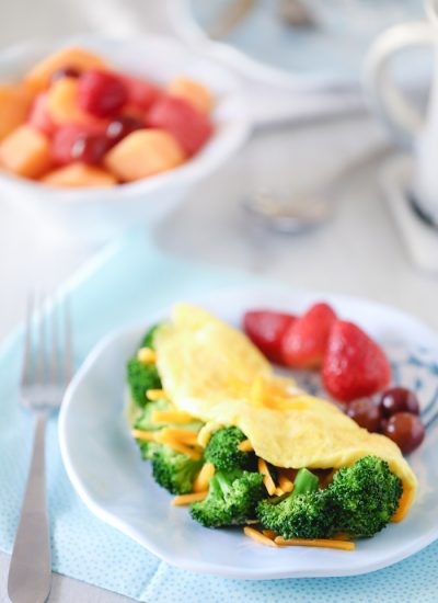 Broccoli & Cheddar Omelet Recipe