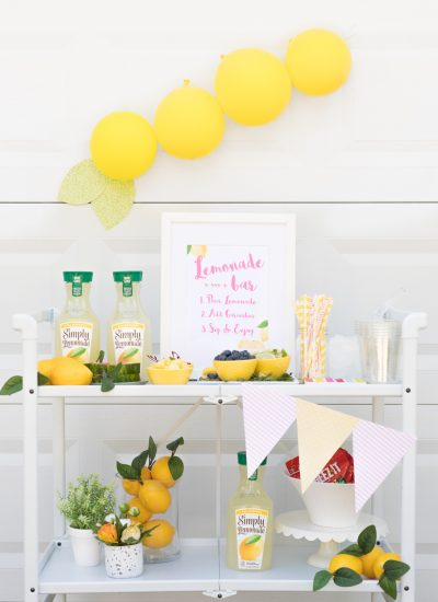 Sweet Summer Lemonade Bar Cart Ideas