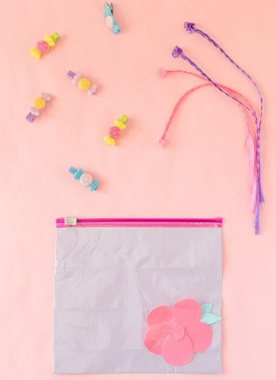 DIY Cosmetic or Hair Accessory Pouch for Kids