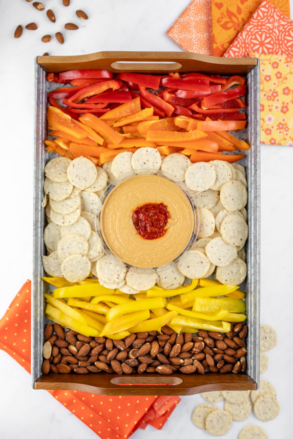Colorful Summer Snack Tray