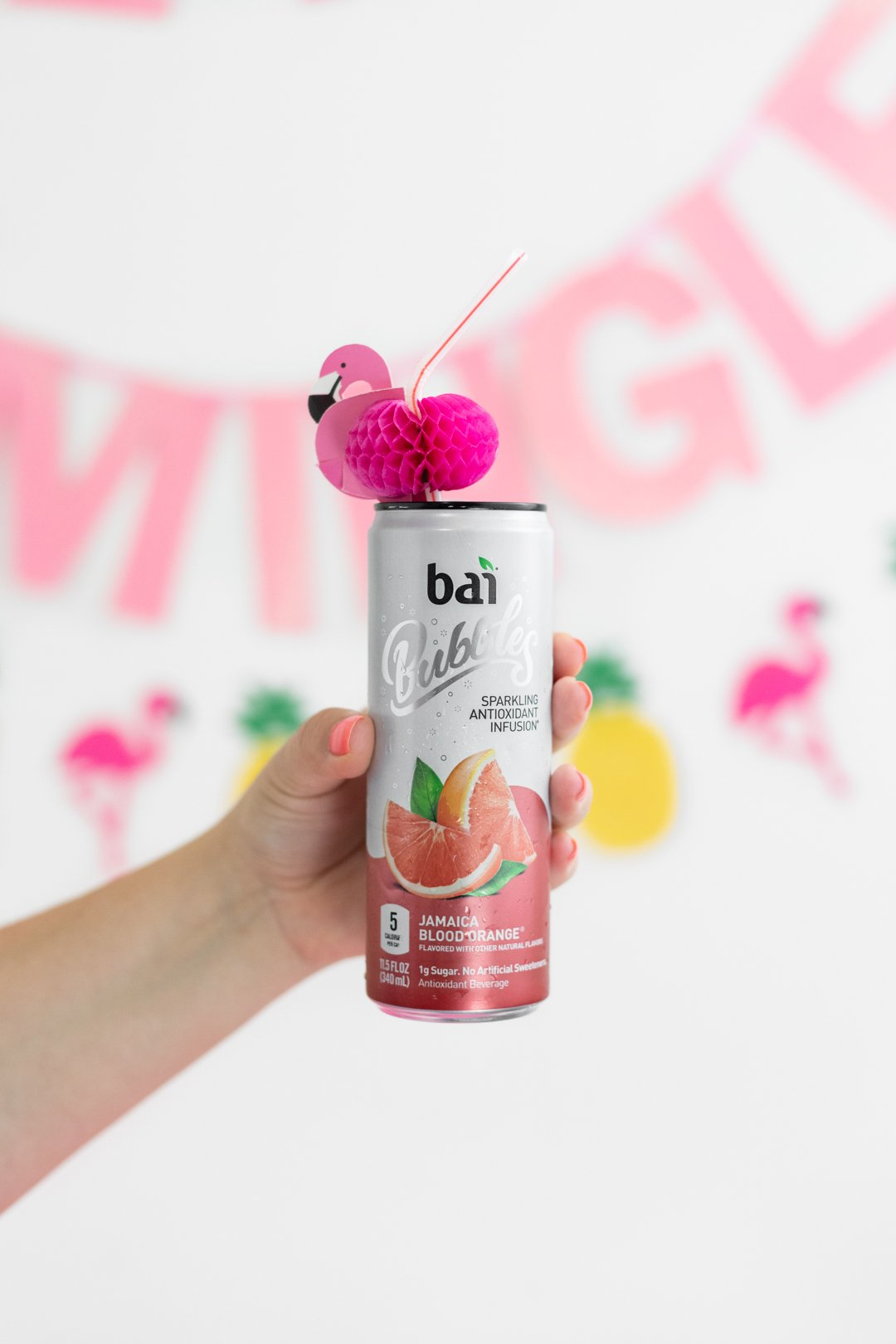 Flamingo Themed Party for Summer featuring Bai Bubbles.