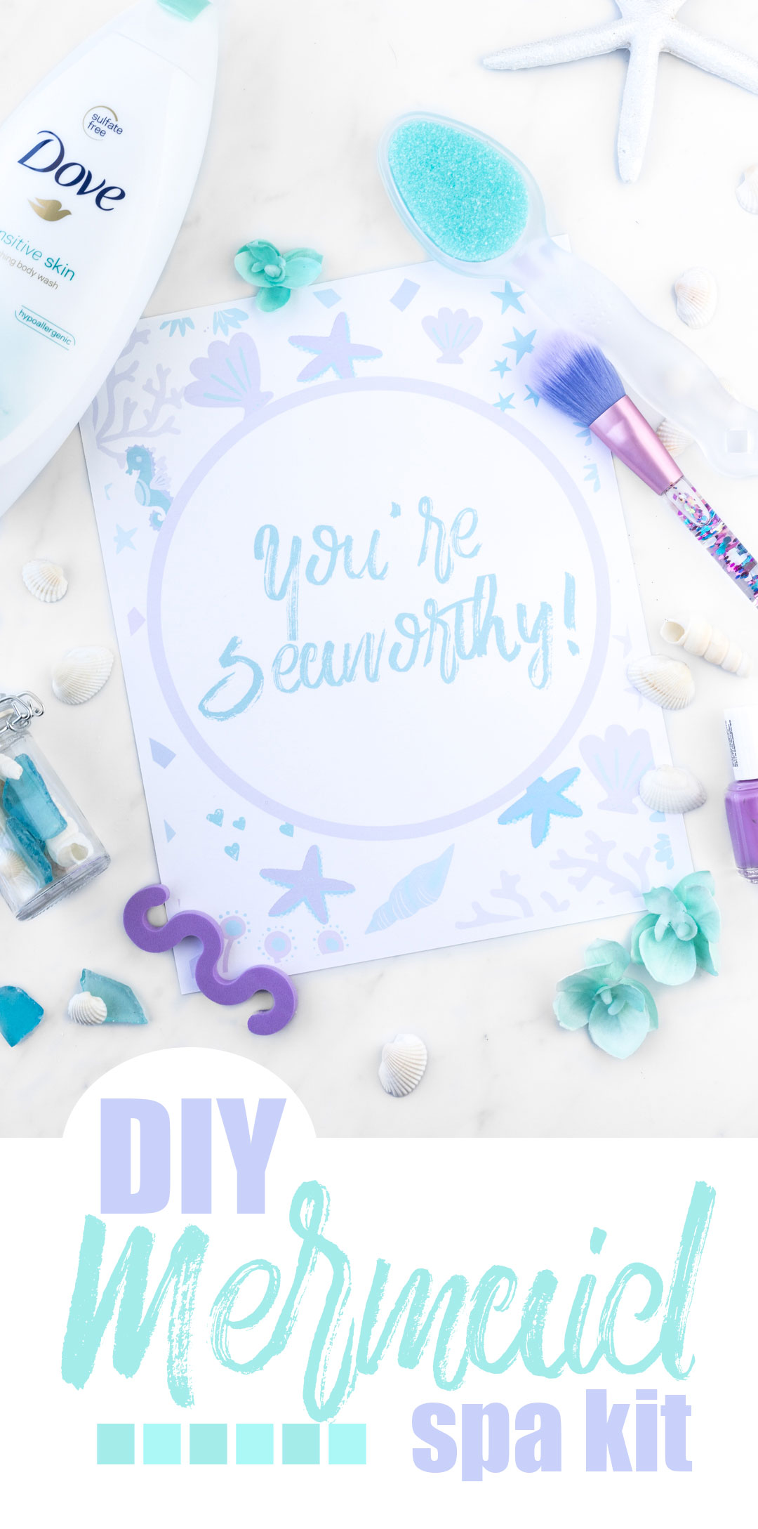 Mermaid Spa DIY and four free printables!