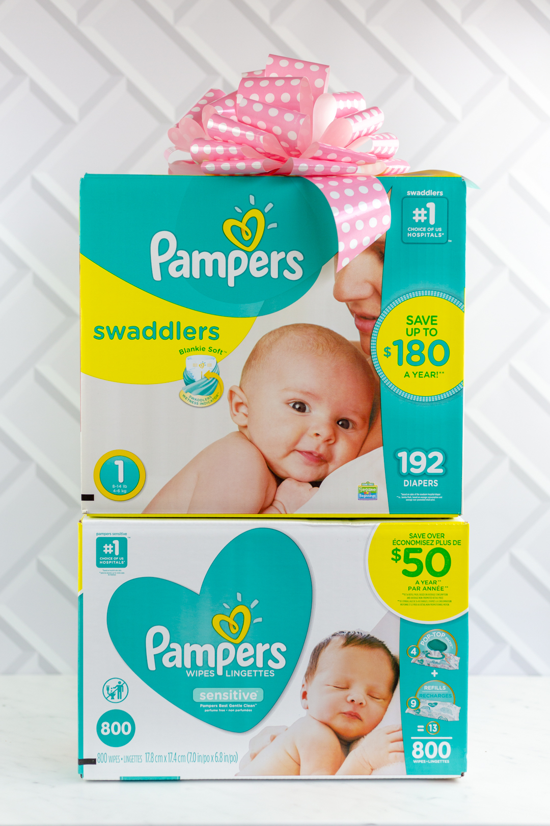 Pampers Swaddlers and Pampers Sensitive Wipes