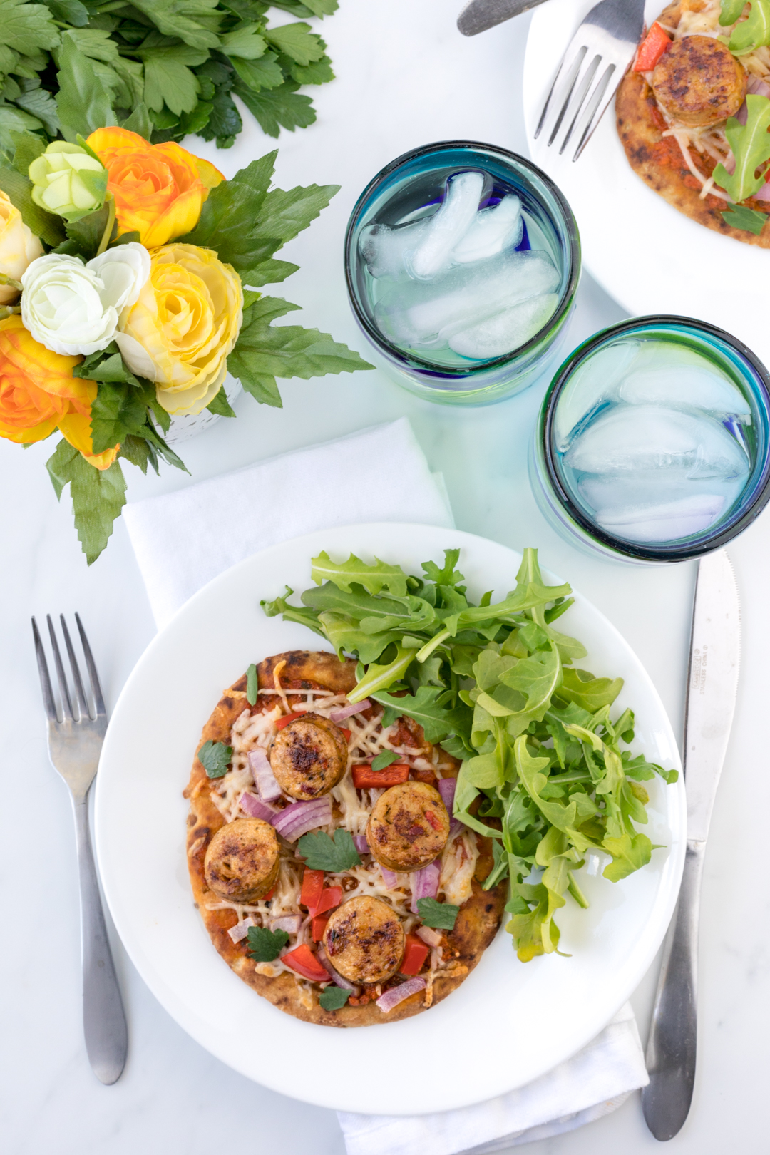 Sausage & Sundried Tomato Pesto Flatbread
