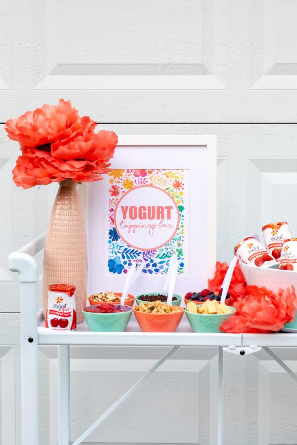 Yogurt Toppings Bar Ideas Featuring Yoplait