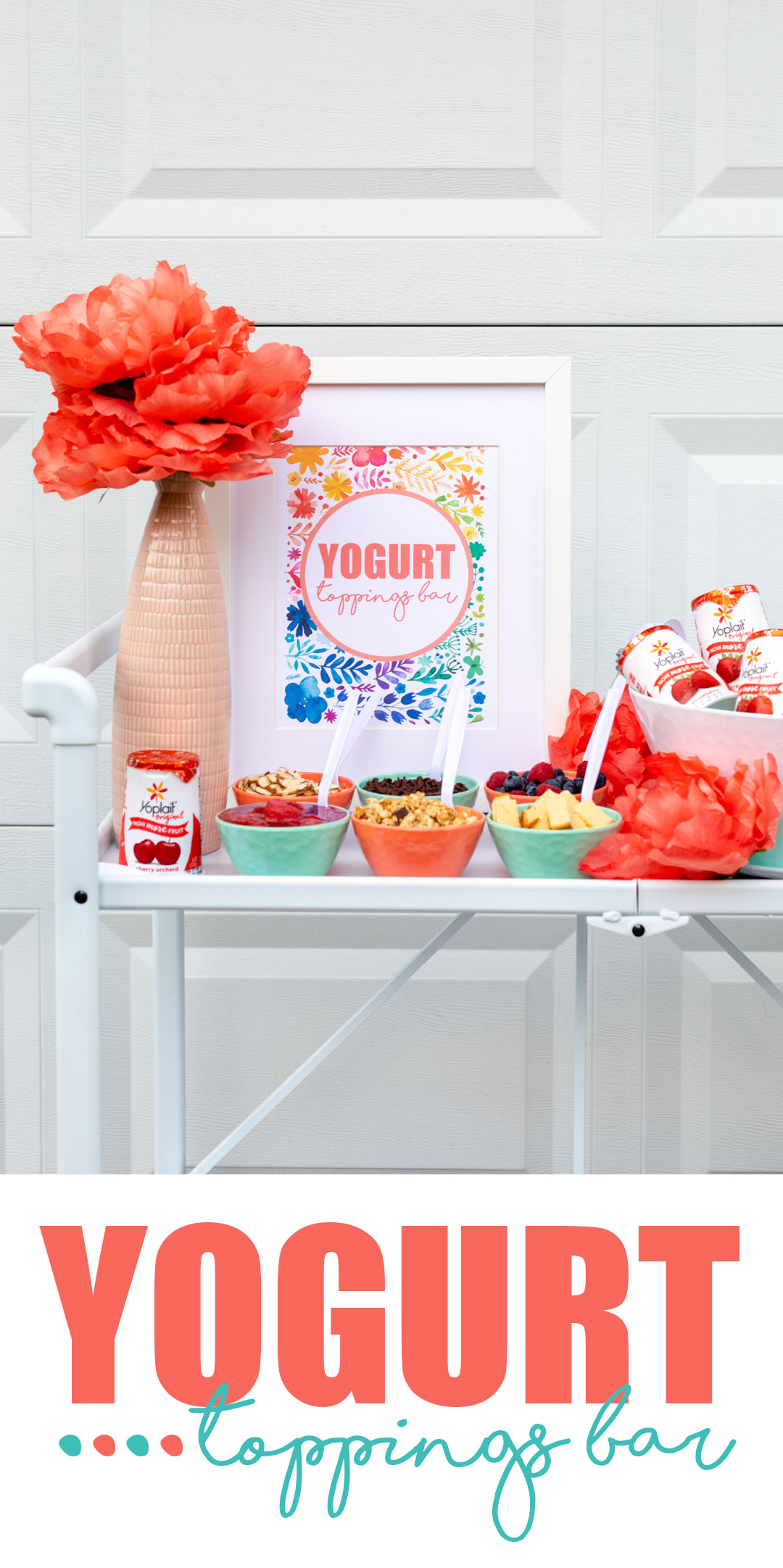 Yogurt Toppings Bar. Fun and refreshing treat station that is perfect for any party or gathering.