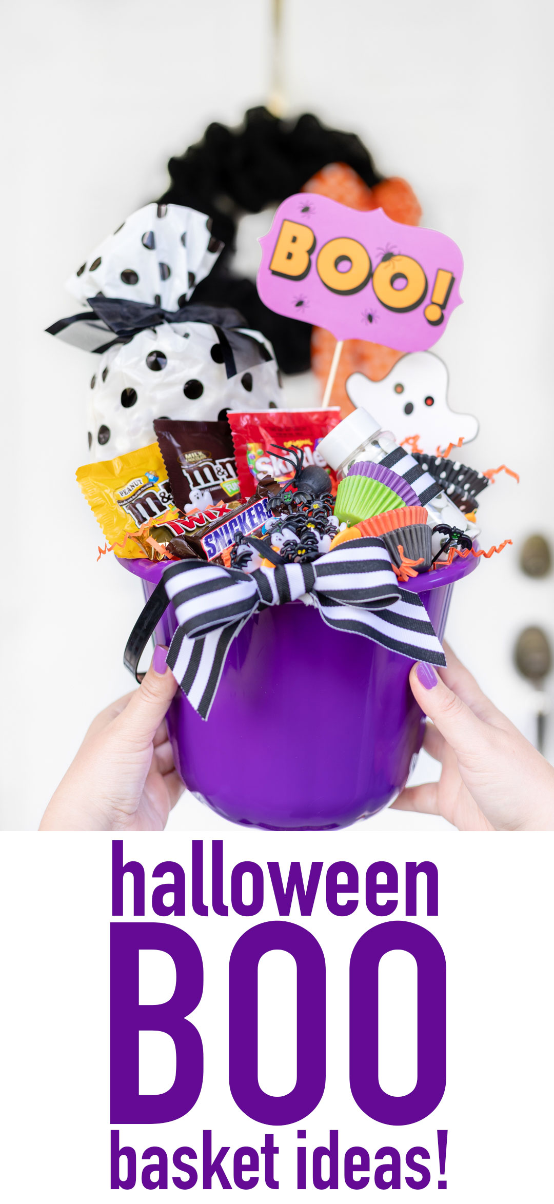 How to Boo Someone for Halloween. Boo gift basket ideas.