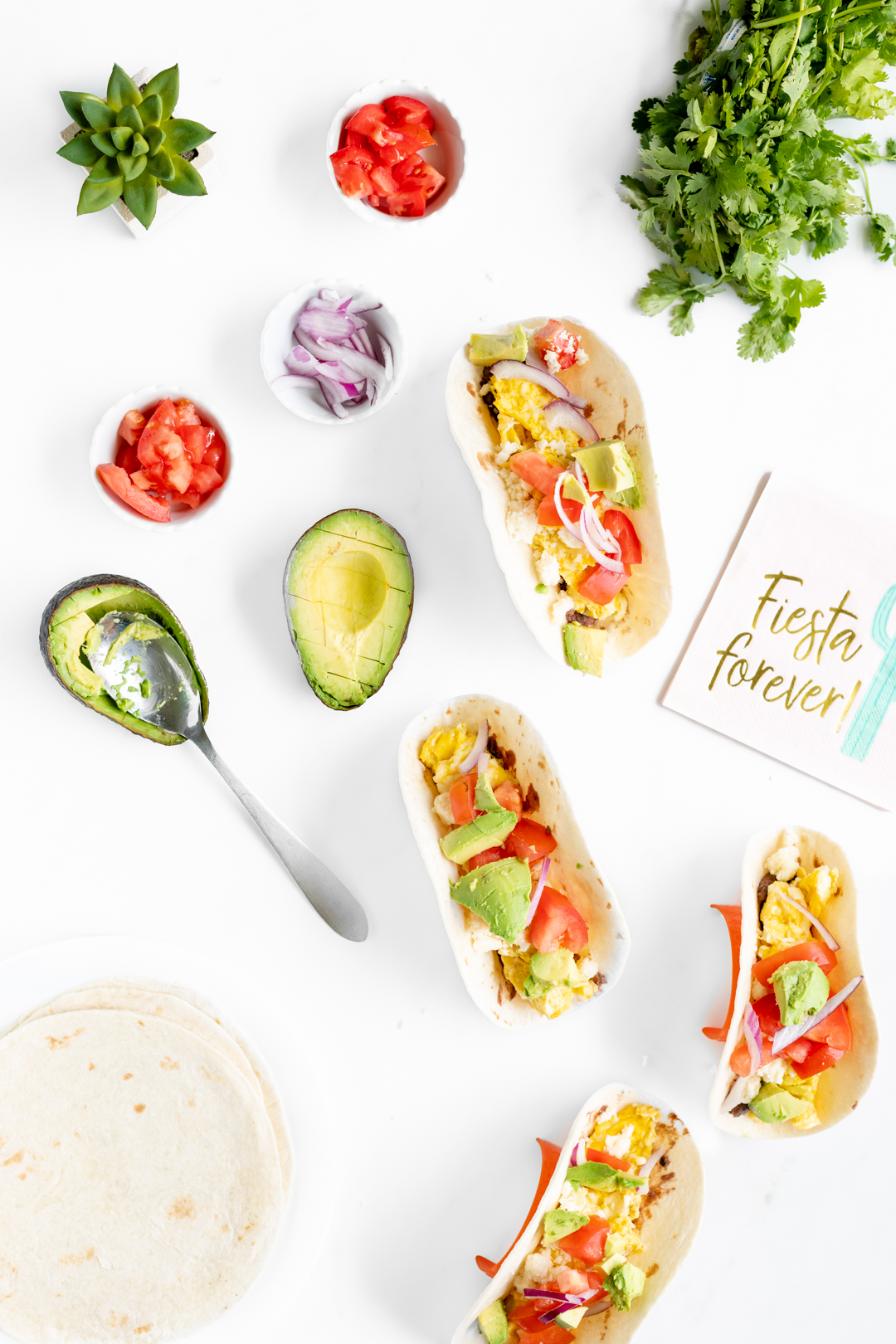 Easy Mexican Breakfast Soft Tacos