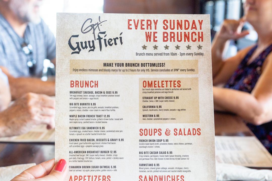 Brunch at Guy Fieri's American Kitchen & Bar
