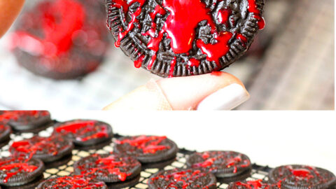 Blood Spatter OREO Cookies for Halloween
