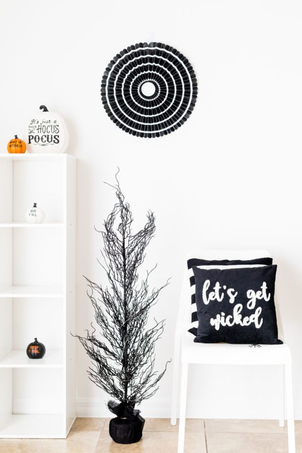 Black, White & Orange Halloween Decor