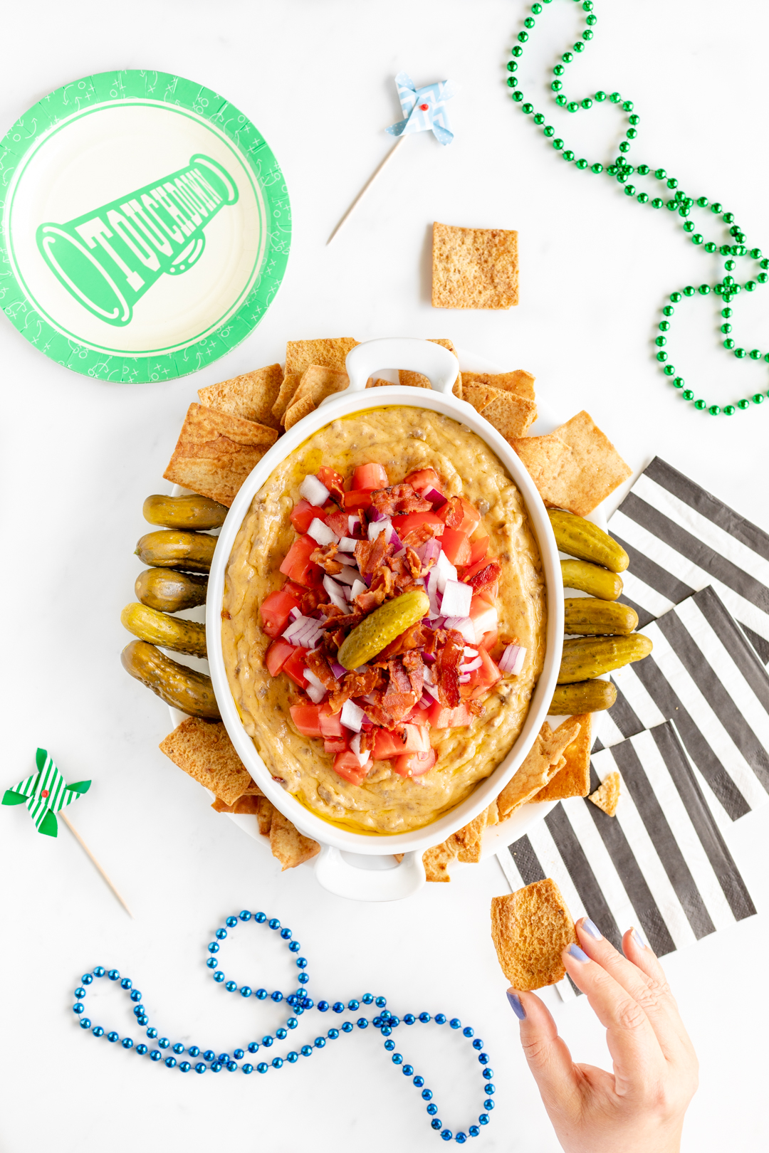 Cheeseburger Dip that's so easy to make.