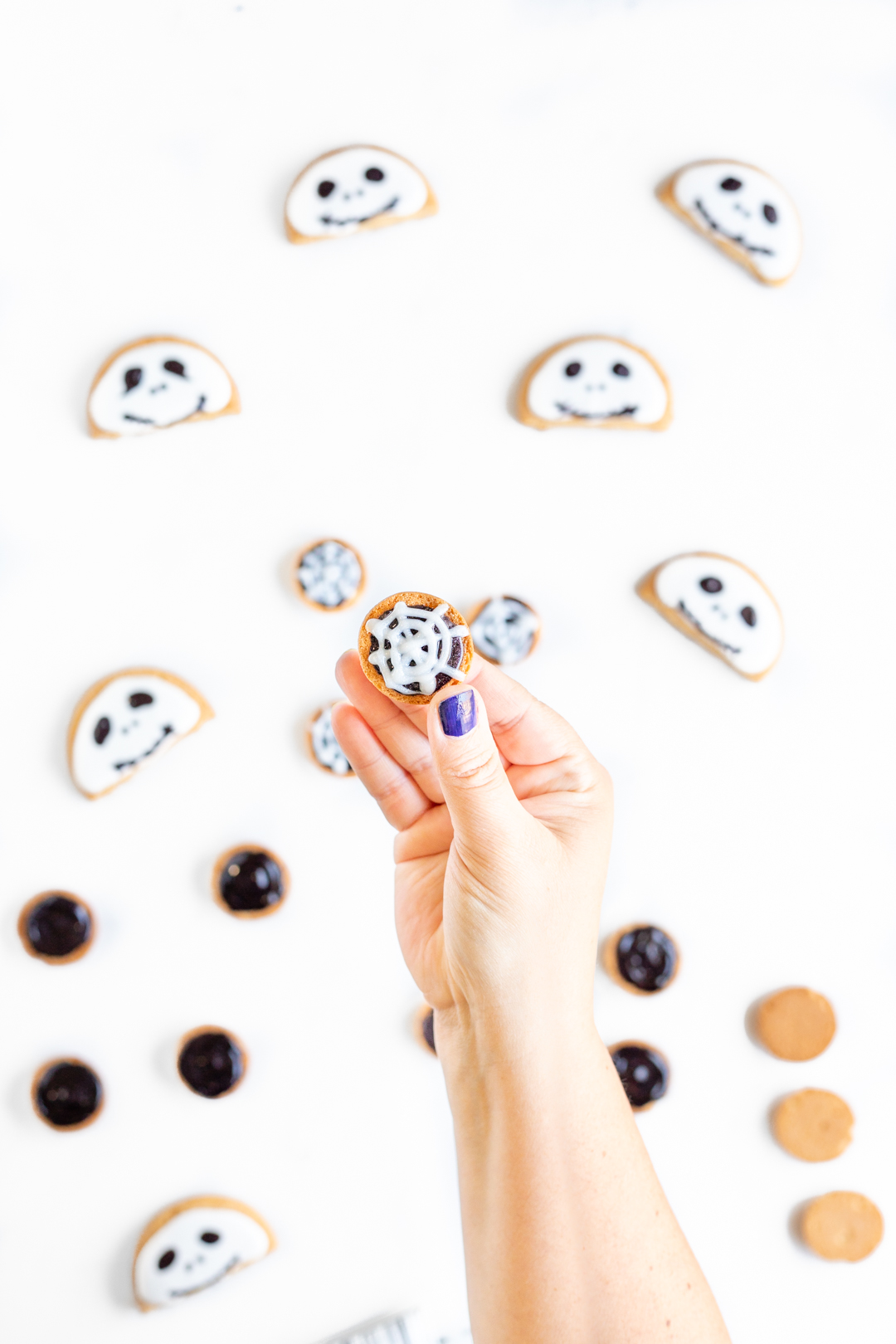 Jack Skellington Mickey Ears Cookies