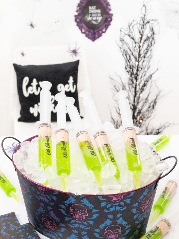 green jello shot syringes