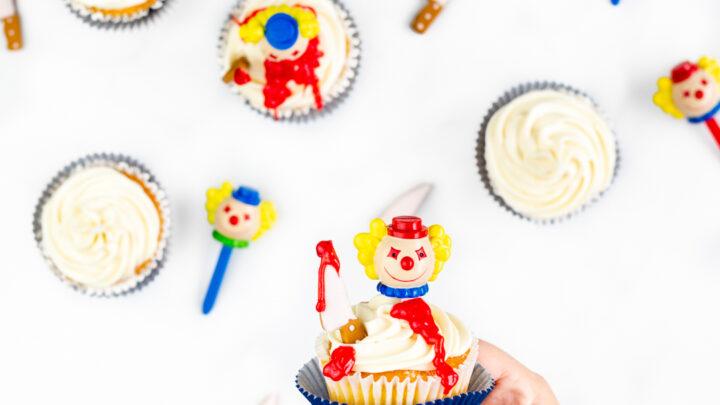 Killer Clown Cupcakes