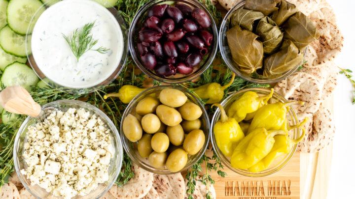Greek Appetizer Charcuterie Board