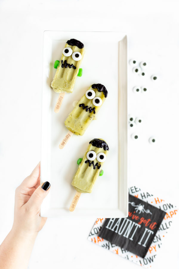 DIY Frankenstein Frozen Treats