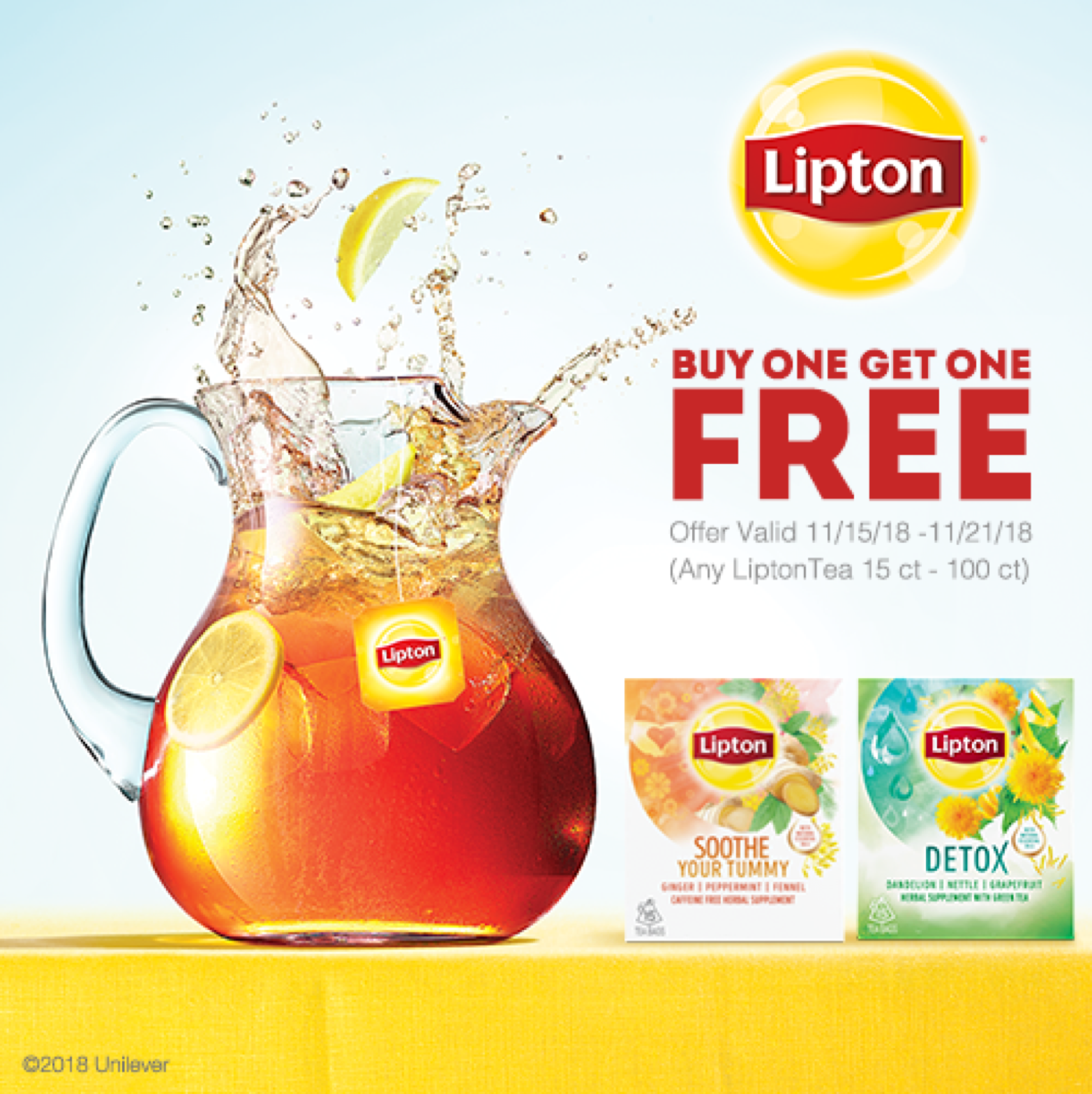 buy one get one free lipton tea sale at publix