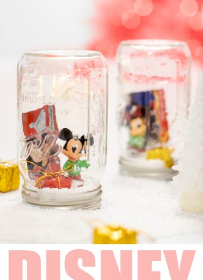 Disney DIY Gift Jars perfect for gifting a Disney Gift Card.