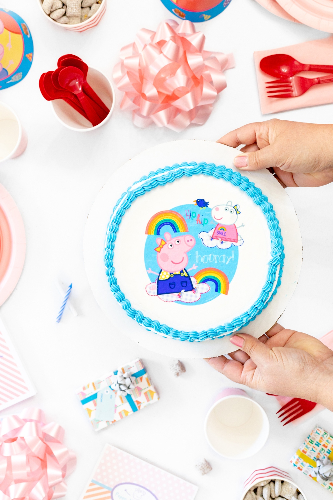 Peppa Pig Ice Cream Cake