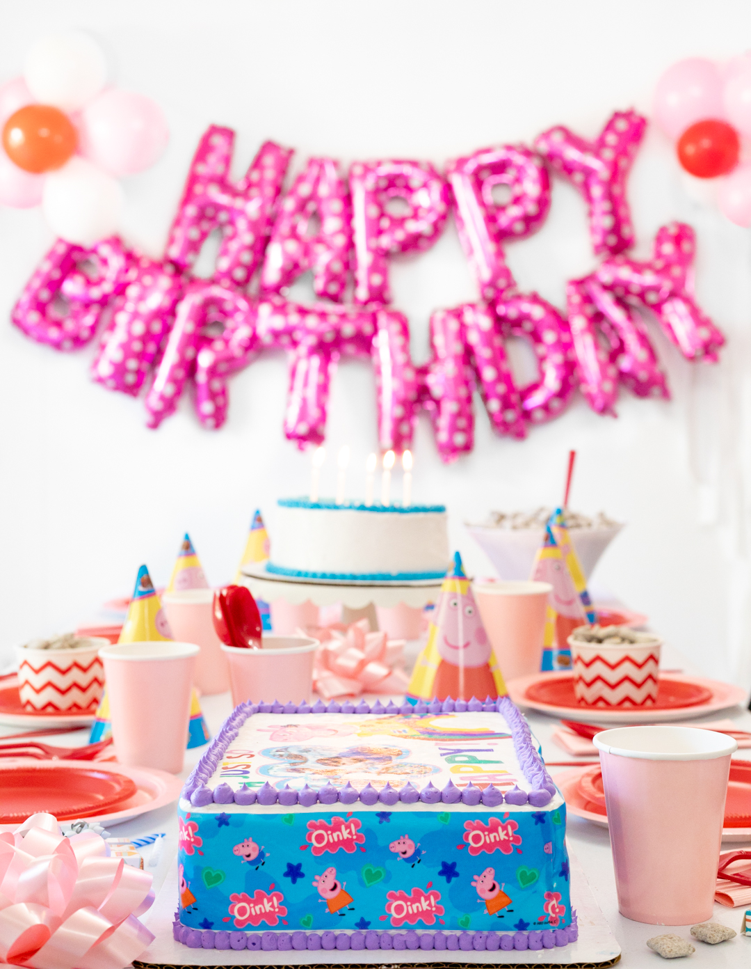 Peppa Pig Birthday Table