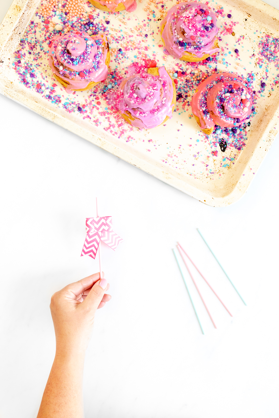 diy pink bows for lollipop sticks