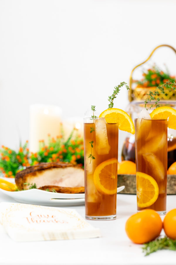 Orange & Thyme Iced Tea