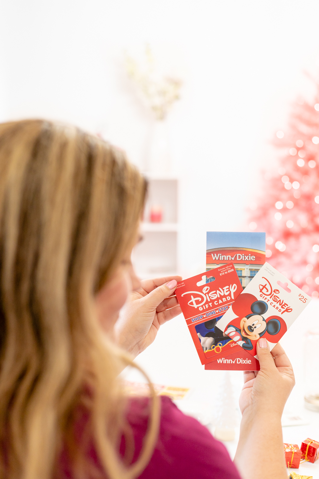 holding disney gift cards