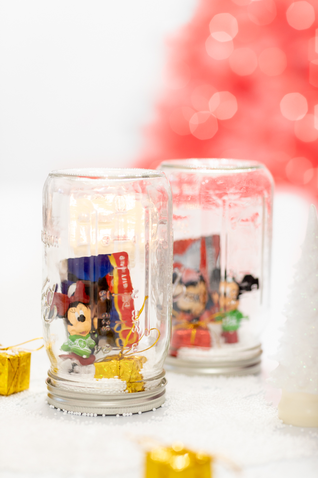 Mickey mouse ornament in a mason jar gift