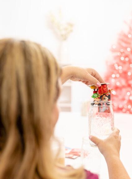 insert gift card into a mason jar