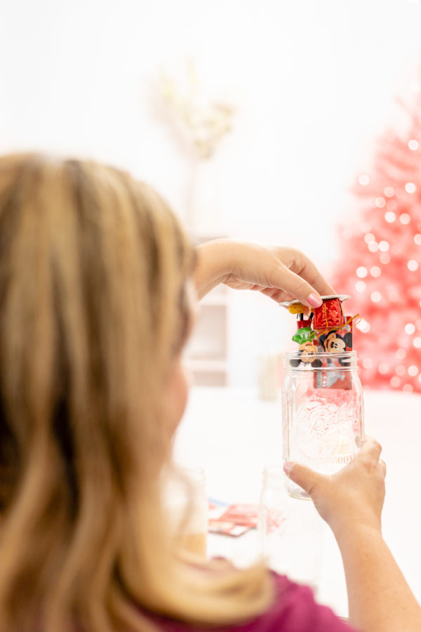 insert gift card into a mason jar