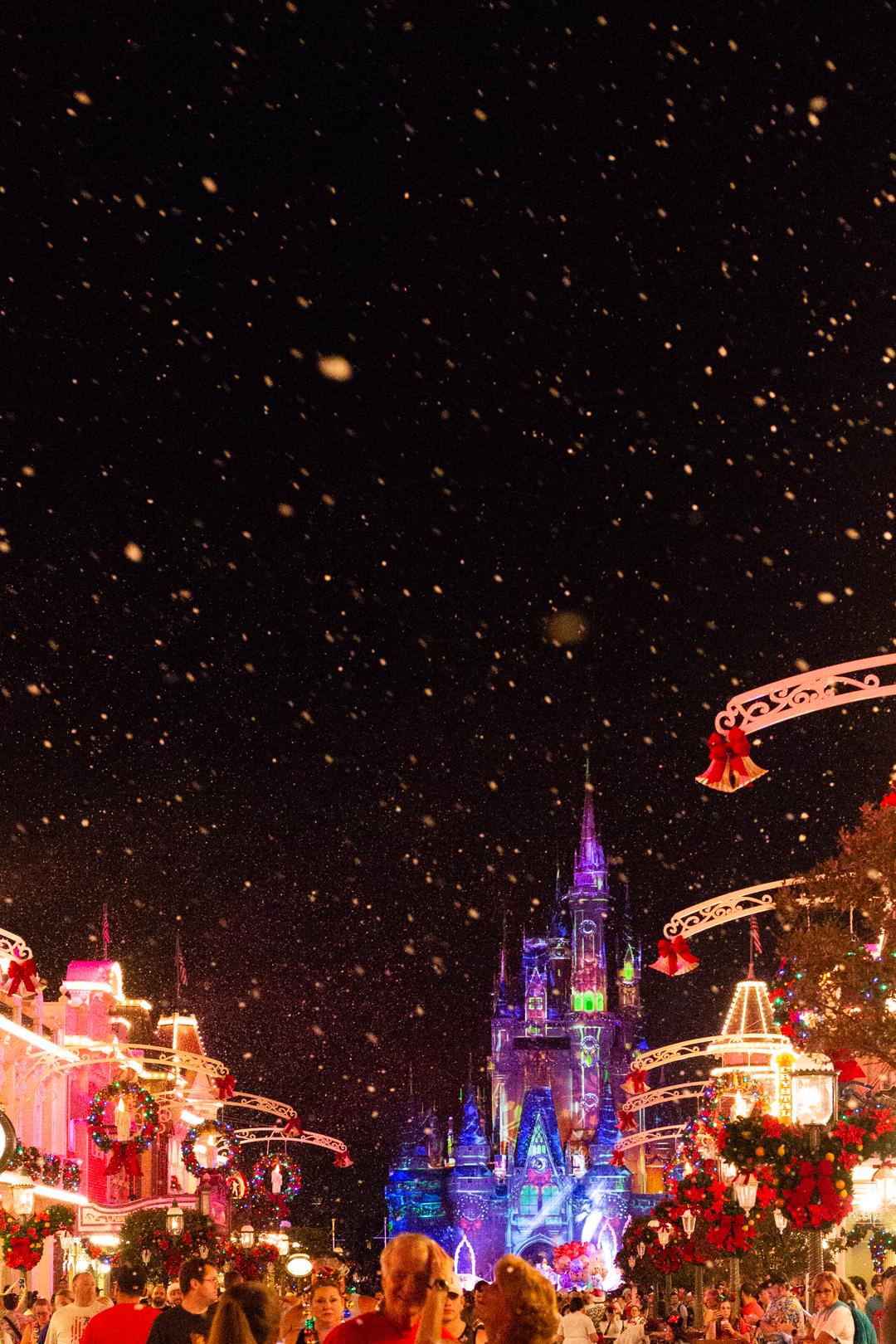 Cinderella's Castle at Walt Disney World at night.