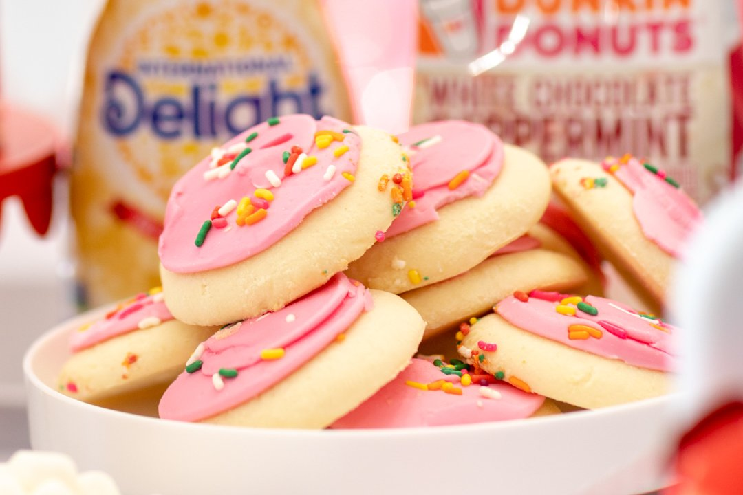 pink frosted cookies