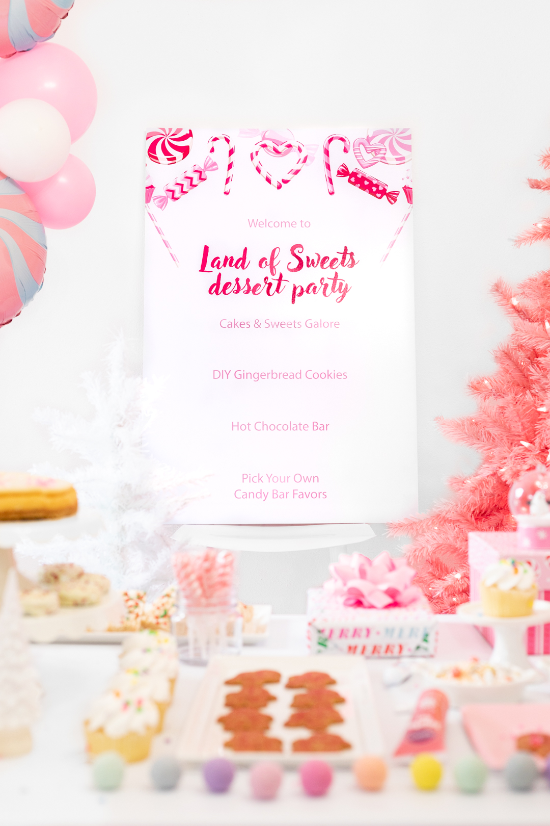 Land of Sweets Dessert Party Sign