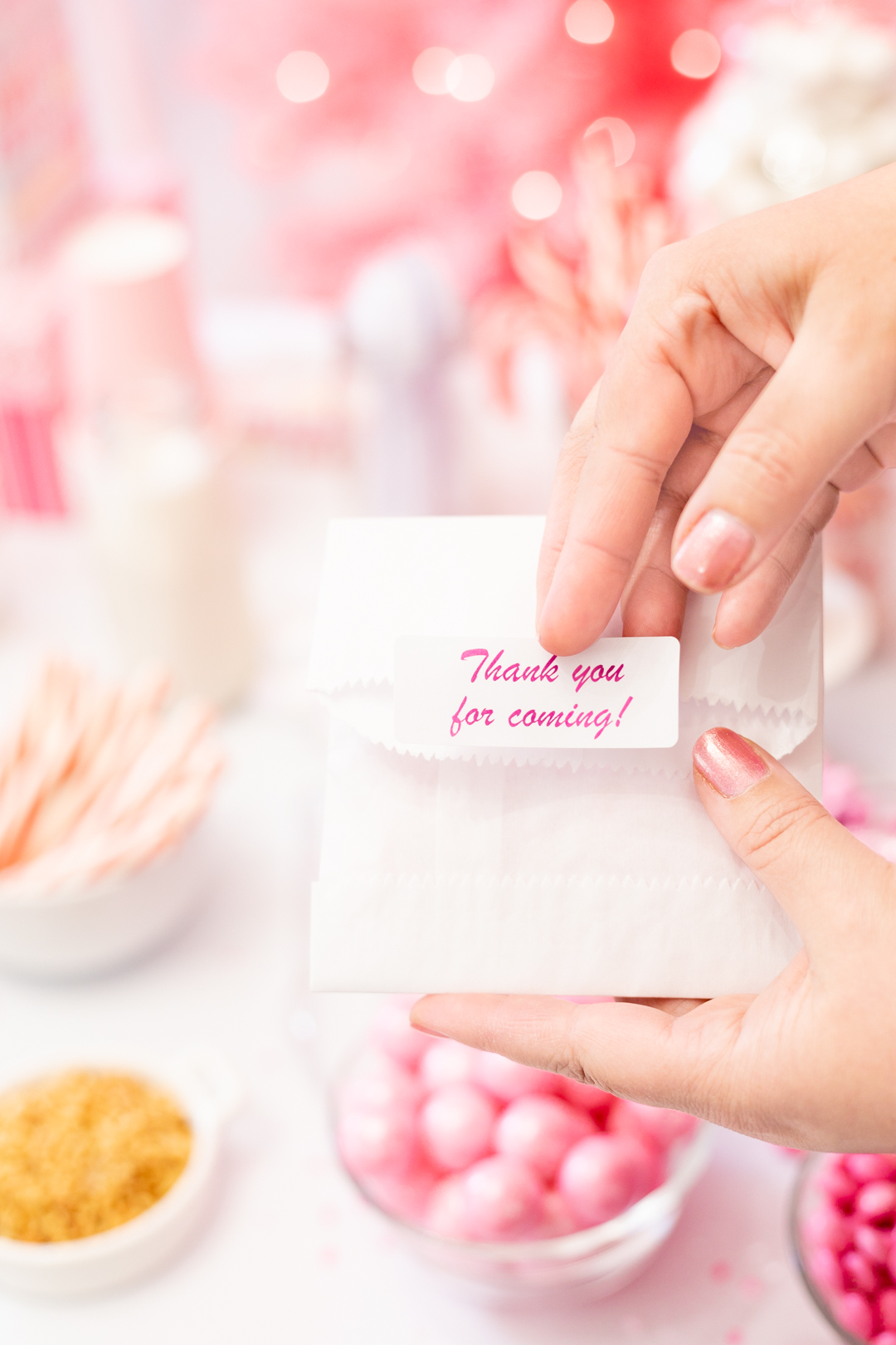 thank you for coming gift favor sticker