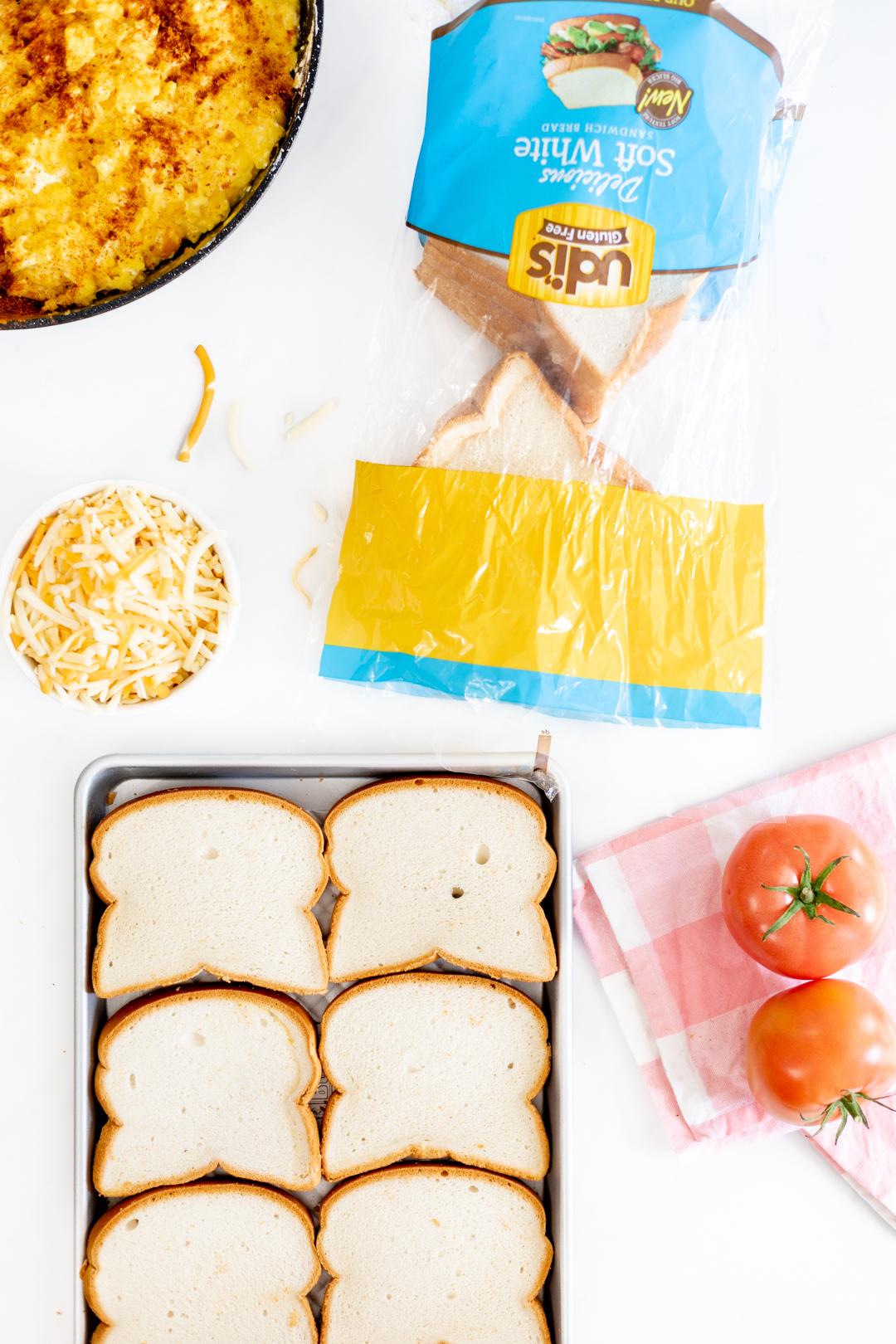 sandwich ingredients with gluten free bread