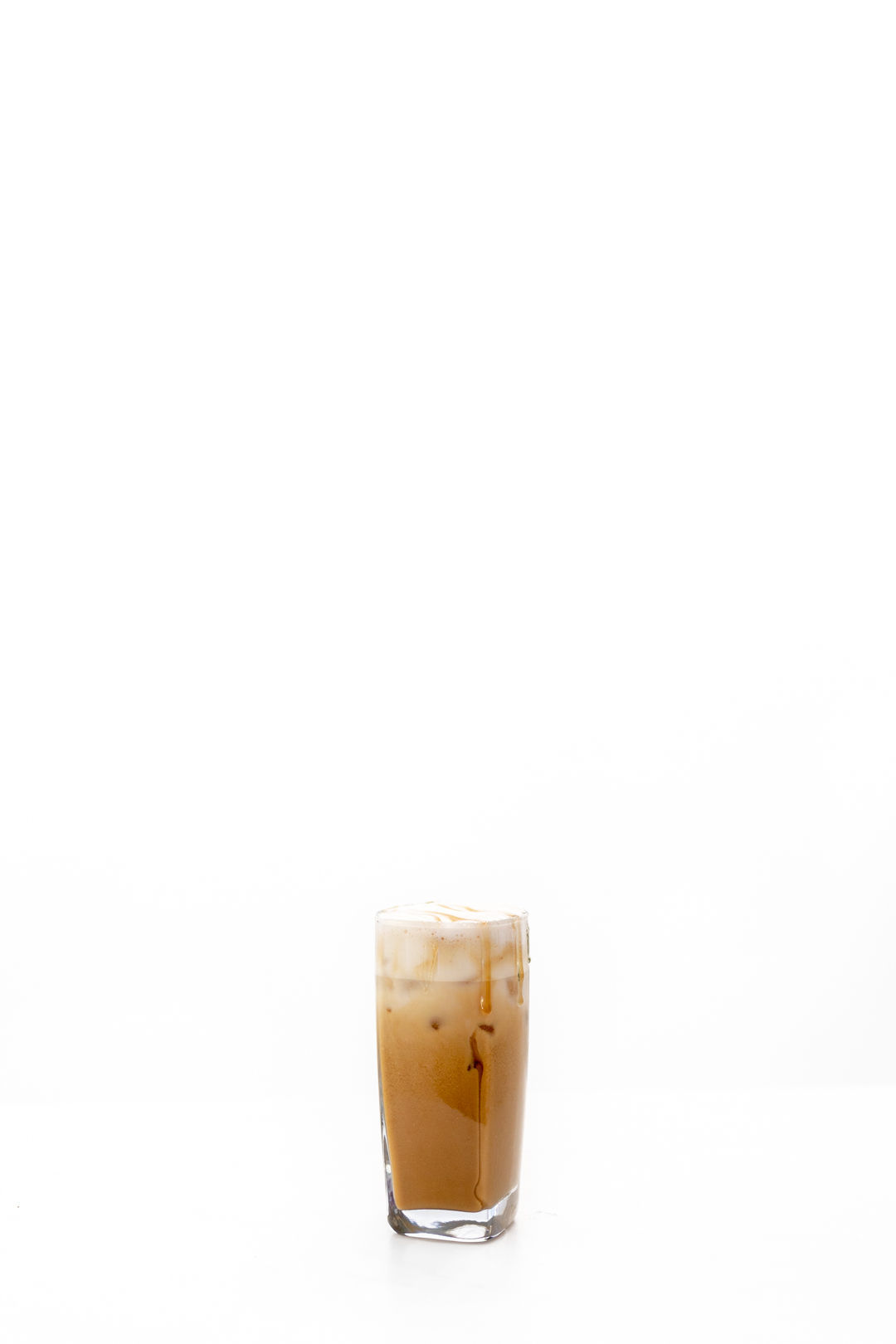 pretty glass of iced coffee