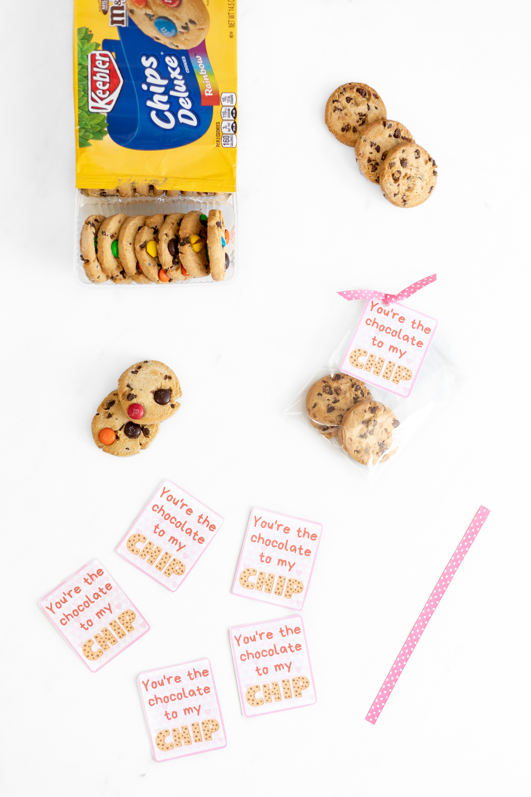 picture regarding Cookie Printable identify Totally free Printable Valentine Playing cards - Chocolate Chip Cookie