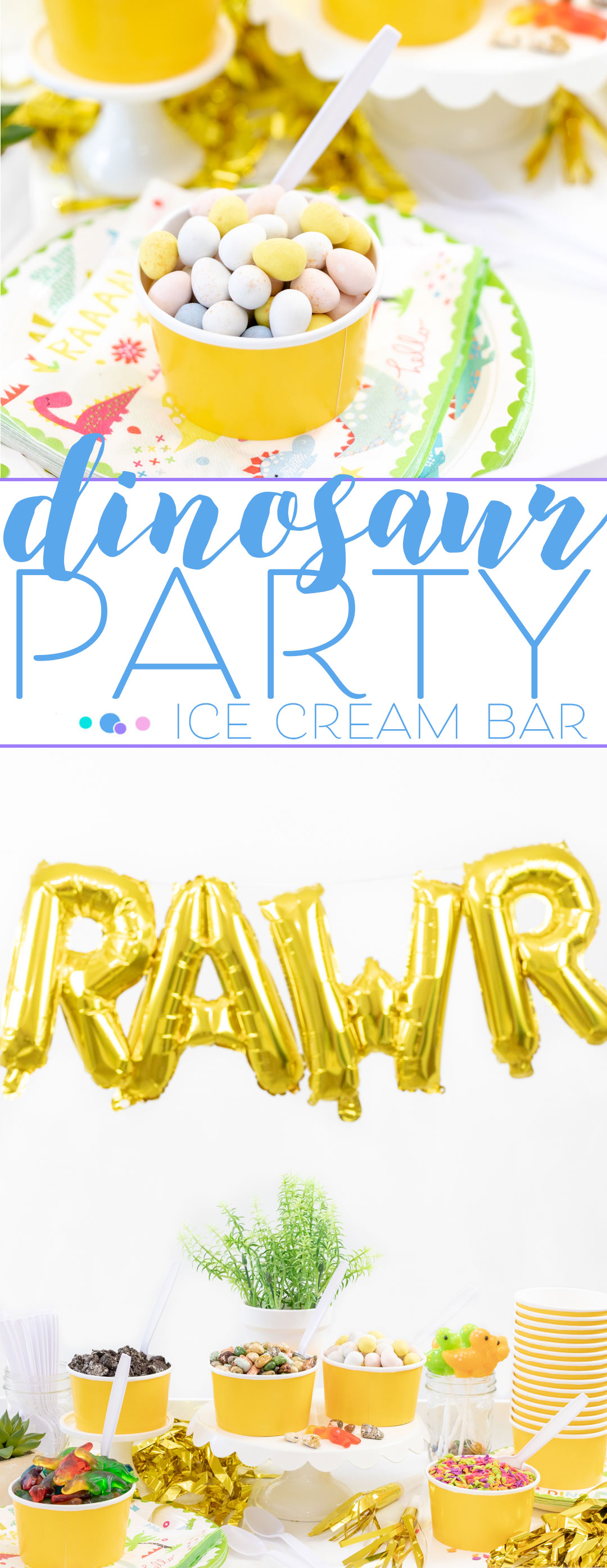 Dinosaur Ice Cream Party that's perfect for celebrating a birthday