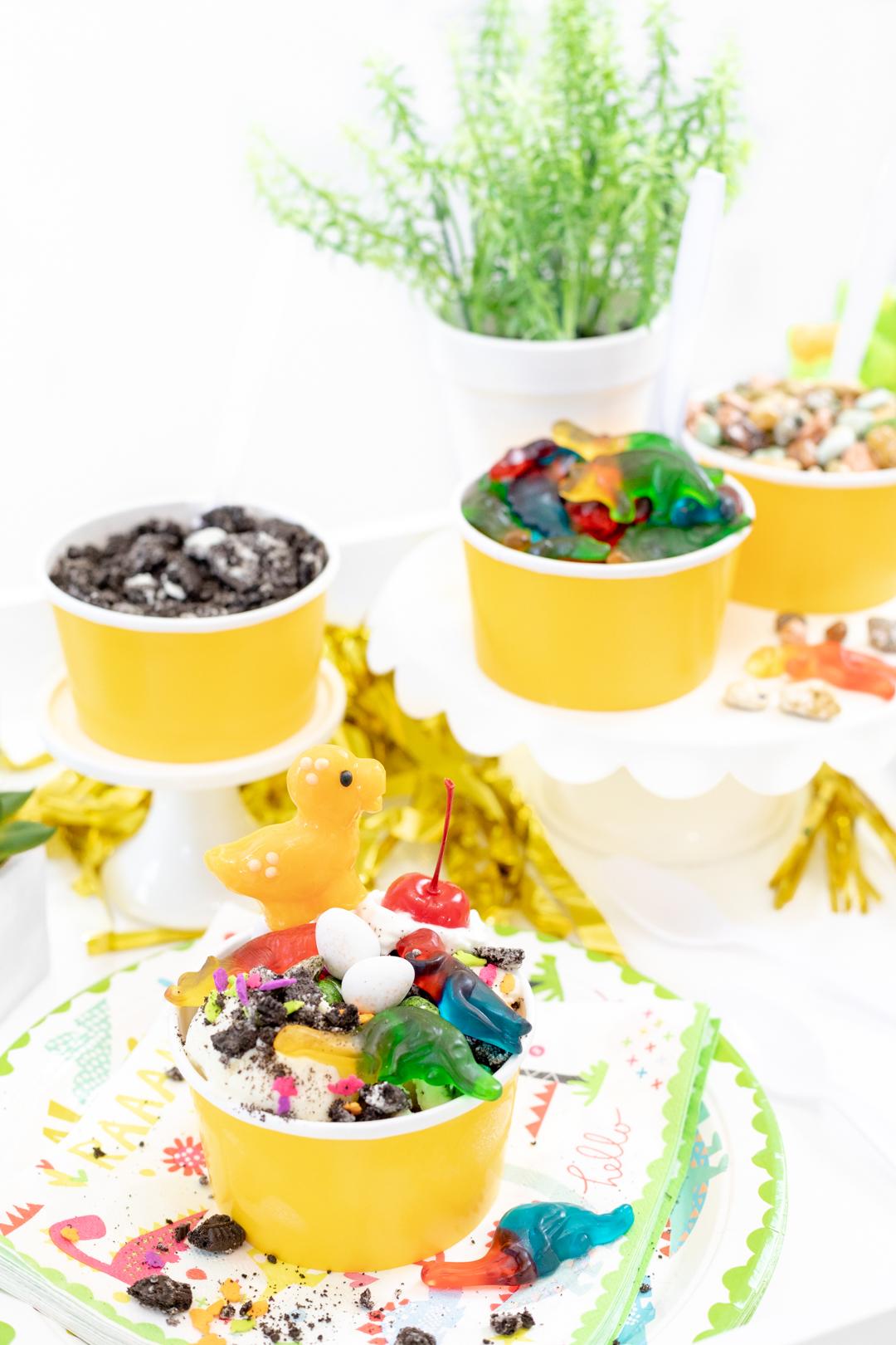 dino party ice cream sundae