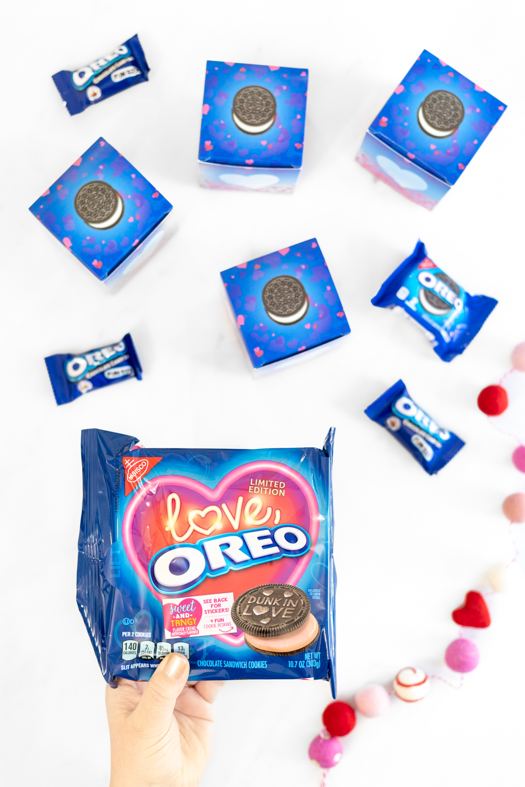 LIMITED EDITION Love OREO cookies with sweet and tangy flavored creme