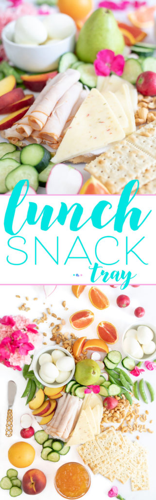 Lunch Snack Tray Ideas. Perfect for fancier entertaining and filling enough for lunch.
