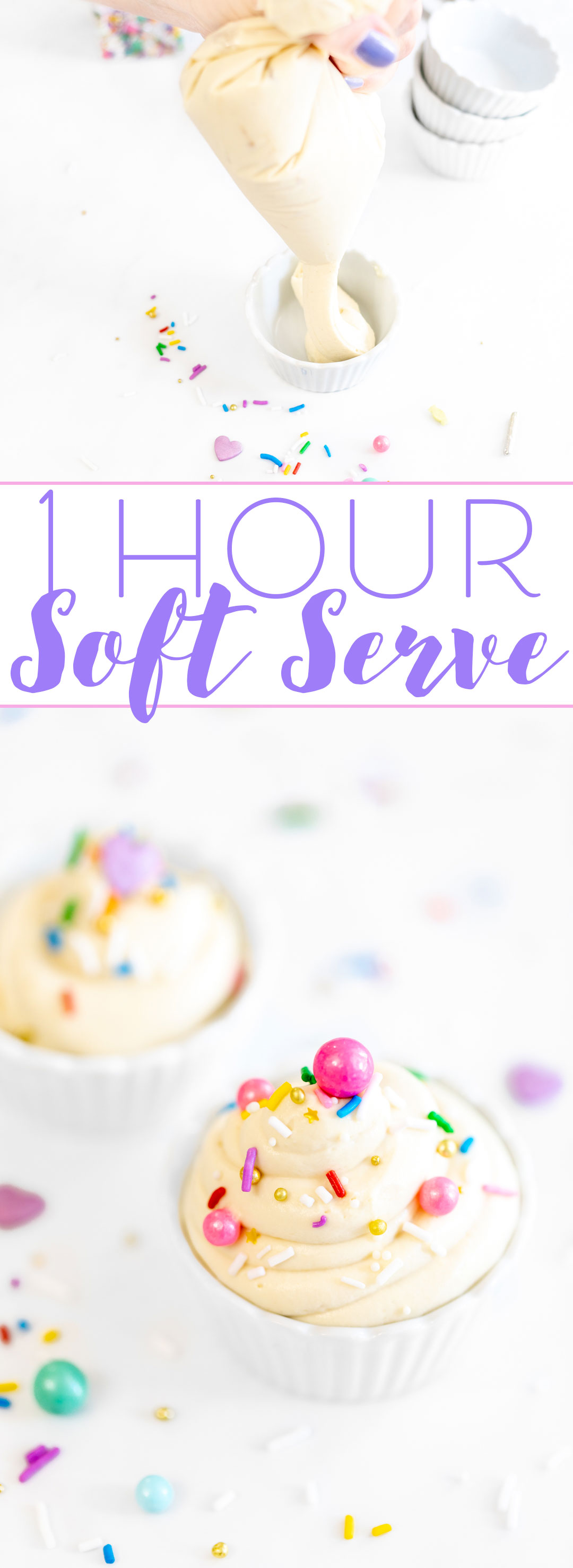 One hour soft serve ice cream recipe for a quick craving fix.