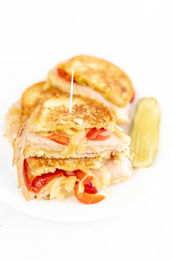 Cherry Pepper Turkey Grilled Cheese Sandwich