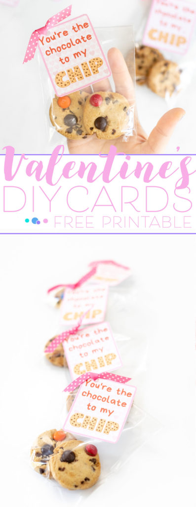 Cute Valentine's Day Tags tied on cookie packages with ribbon.