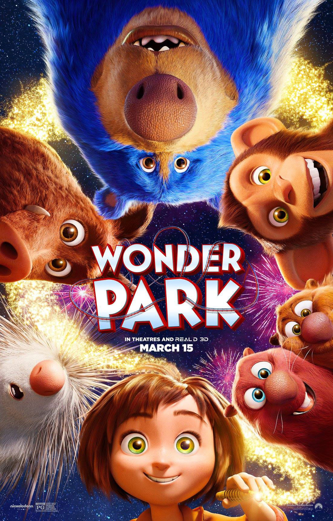 Wonder Park Movie Poster with main characters